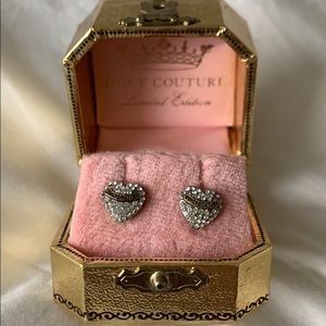 Juicy Couture Sparkly Heart Stud Earrings